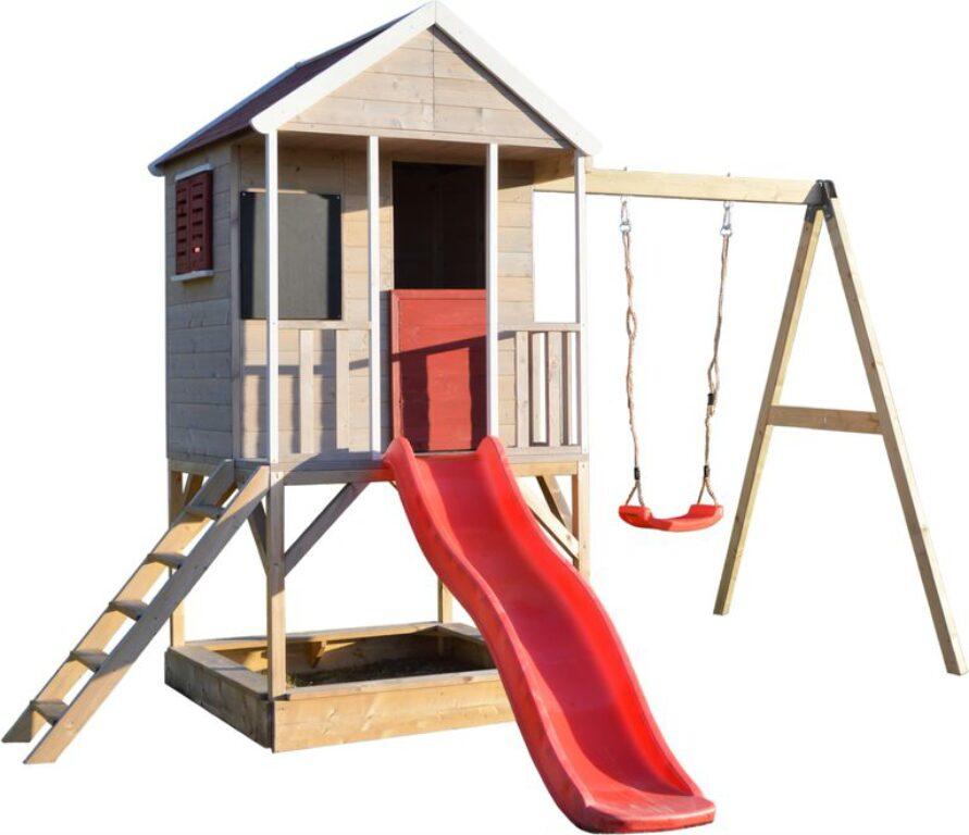 Domeček dětský dřevěný Veranda s houpačkou