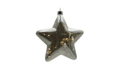 Hvězda maxi Stříbrná Crystal