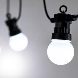 Řetěz 20 ks párty bílé žárovky